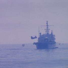 H-46 landing on LPD 8