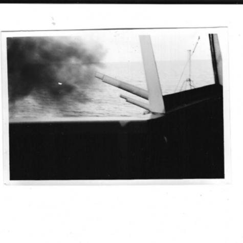 USS Brenner 5 inch guns