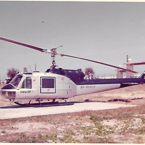 Air America Bell Huey in Vietnam 1973