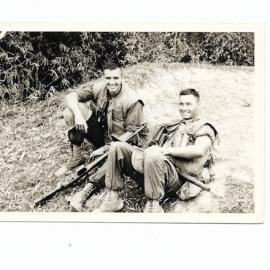 Andrews w Sgt Sluss on patrol May 1966