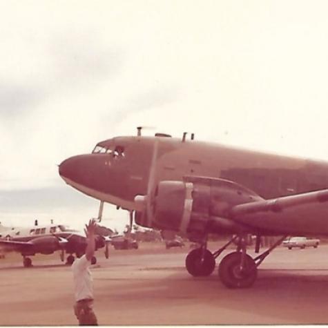 Cambodian C-47 at Phnom Penh Airport 1973