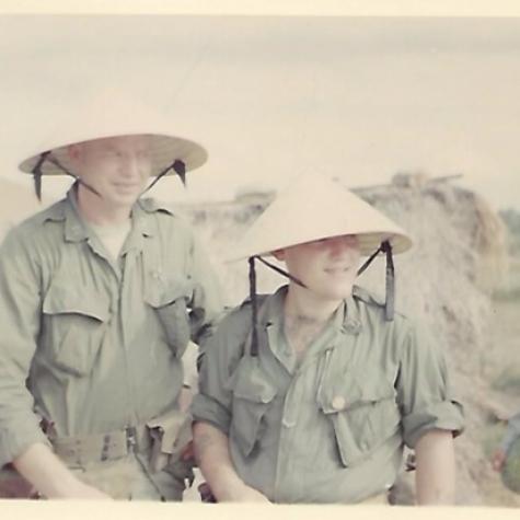 Fox Company CO and Corpsman 1970