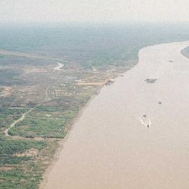 Solid Anchor Base on left side of river