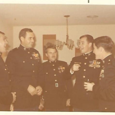 USMC Birthday 1970 Capt Andrews with mates from Vietnam