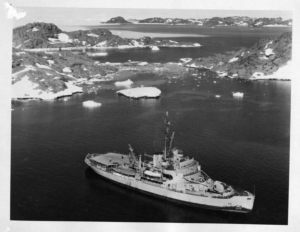 USS Burton in ice flows