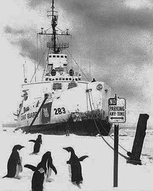 USS Burton in ice